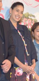 結婚&妊娠発表後初めて公の場に登場した森泉 =映画『ピーターラビット』のジャパンプレミア(C)ORICON NewS inc.