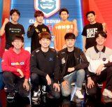 公式eスポーツリーグ初の国際試合に臨む日韓の両チーム (C)ORICON NewS inc.
