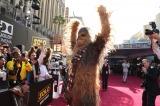米ロサンゼルス・ハリウッドで現地時間5月10日、映画『ハン・ソロ/スター・ウォーズ・ストーリー』ワールドプレミア開催。雄叫びをあげるチューバッカ(C)ABImages