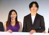 映画『蝶の眠り』初日舞台あいさつに出席した(左から)中山美穂、キム・ジェウク (C)ORICON NewS inc.