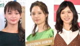 (左から)多部未華子、宮崎あおい、松岡茉優(C)ORICON NewS inc.
