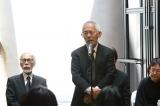 映画監督・高畑勲さんのお別れ会の模様=主催者を代表して最後にあいさつした鈴木敏夫プロデューサー