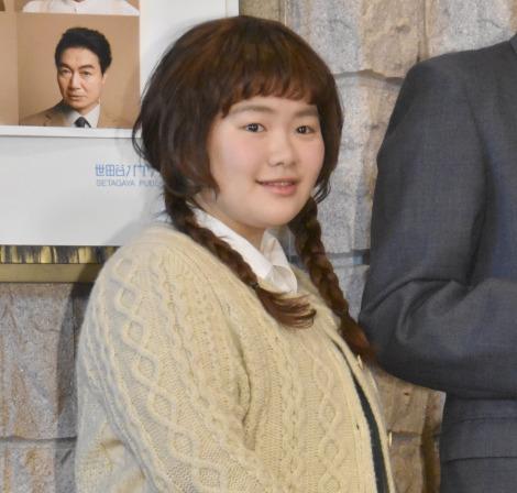 舞台『ハングマン -HANGMEN-』公開ゲネプロ前の囲み取材に出席した富田望生 (C)ORICON NewS inc.