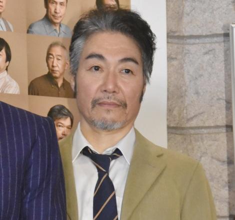 舞台『ハングマン -HANGMEN-』公開ゲネプロ前の囲み取材に出席した羽場裕一 (C)ORICON NewS inc.