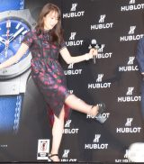 『HUBLOT LOVES FOOTBALL Special Exhibition 開催記念イベント』に出席した 高梨臨(C)ORICON NewS inc.