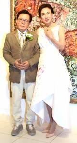 共著『ここから始まる 人生100年時代の男と女』刊行と婚約発表パーティーを開催した(左から)猪瀬直樹氏と蜷川有紀 (C)ORICON NewS inc.