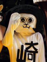映画『ランペイジ 巨獣大乱闘』(5月18日公開)の試写会でゆるキャラたちが大乱闘=オカザえもん (C)ORICON NewS inc.