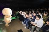 映画『ランペイジ 巨獣大乱闘』(5月18日公開)の試写会でゆるキャラたちが大乱闘=