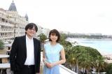 『第71回カンヌ国際映画祭』に参加した細田守監督、上白石萌歌 (C)2018 スタジオ地図