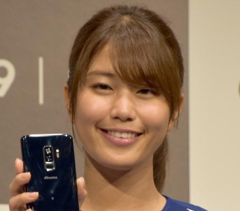 大谷翔平にラブコールを送る稲村亜美=最新スマートフォン『Galaxy S9 S9+』PRイベント(C)ORICON NewS inc.nc.