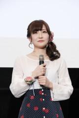 劇場アニメ『あさがおと加瀬さん。』完成披露上映会に出席した(左から)高橋未奈美