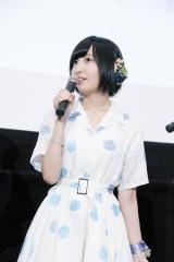 劇場アニメ『あさがおと加瀬さん。』完成披露上映会に出席した佐倉綾音