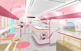 ハローキティ新幹線1号車「HELLO!PLAZA」は西日本各地域の魅力を紹介