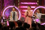 5月19日・26日の2週にわたってNHK『Uta-Tube』(中部7県向け)にLiSA(左)が登場。右の2人はMCは鉄平と橋詰彩季アナウンサー(C)NHK