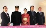 (左から)田中和彦氏、イッセー尾形、阿部純子、井上雅貴監督、ミハイル・ガルージン駐日ロシア大使