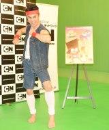 アニメ『OK K.O.! めざせヒーロー』の取材会に出席した小島よしお (C)ORICON NewS inc.
