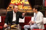 『石橋貴明のたいむとんねる』ゲストの江夏豊氏(左)とMCの石橋貴明(右)