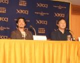 映画『海を駆ける』外国人特派員イベントに出席した(左から)ディーン・フジオカ、深田晃司監督 (C)ORICON NewS inc.