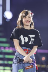 百田夏菜子=『ももいろクローバーZ 10th Anniversary The Diamond Four 〜in 桃響導夢〜』2日目公演 Photo by HAJIME KAMIIISAKA + Z