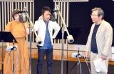ラジオドラマ『ストリッパー物語』アフレコの模様(左から)広末涼子、筧利夫、杉田成道氏 (C)ORICON NewS inc.