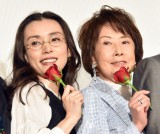映画『妻よ薔薇のように 家族はつらいよIII』の初日舞台あいさつに出席した(左から)中嶋朋子、吉行和子(C)ORICON NewS inc.