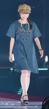 『Rakuten GirlsAward 2018 SPRING/SUMMER』に登場した乃木坂46の福原遥 (C)ORICON NewS inc.
