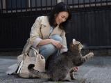 映画『ねことじいちゃん』に出演する柴咲コウ。大好きな猫との共演を楽しんだ (C)2018「ねことじいちゃん」製作委員会 撮影:Machi Iwago
