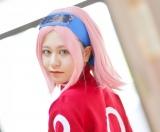 『NARUTO』春野サクラのコスプレを披露した新潟美人レイヤーのまんぼうさん (C)oricon ME inc.