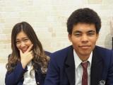テレビ東京『青春高校3年C組』5月30日は歌のテストを実施します(左から)夘余野陽奈乃、チャーリー(エゼマタ健太チャールズ) (C)ORICON NewS inc.