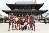 増上寺にてデッドプールたちと記念撮影
