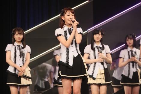 暫定3位となったHKT48・宮脇咲良(C)AKS