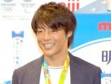 『「明治おいしい牛乳」東京2020オフィシャル牛乳』発表イベントに出席したカヌー・スラロームの羽根田卓也選手(C)ORICON NewS inc.