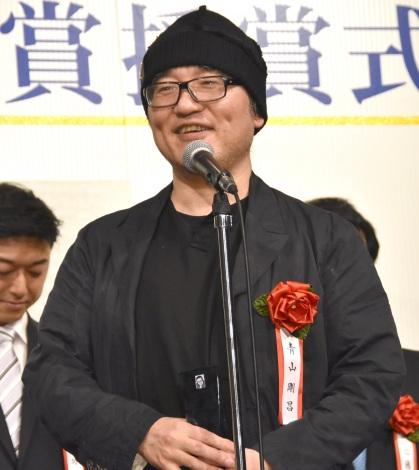 喜びのスピーチをした青山剛昌氏=『第37回藤本賞』の授賞式 (C)ORICON NewS inc.