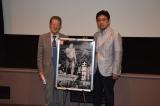 映画『土俵物語』上映イベントに出席した(左から)杉山邦博、やくみつる (C)ORICON NewS inc.