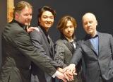(左から)デヴィッド・パーソンズ、井上芳雄、堂本光一、ジョン・ケアード (C)ORICON NewS inc.