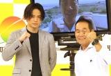 『24時間テレビ41 愛は地球を救う』記者会見に出席した(左から)Sexy Zone・菊池風磨、坂本雄次トレーナー (C)ORICON NewS inc.