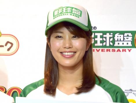 野球盤始球式で自己最速136キロを更新した稲村亜美=『エポック社 創業60周年記念イベント』(C)ORICON NewS inc.
