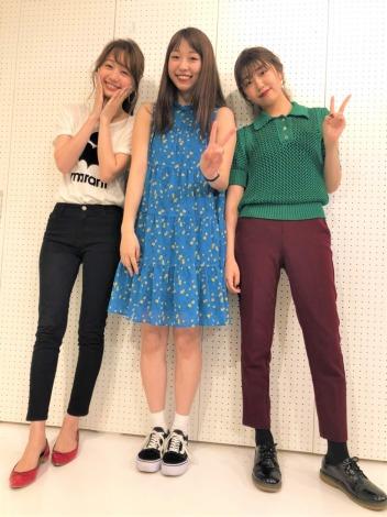 イベント開催が決定した「浅草女子飲み46」(左から)高田秋、大矢梨華子、碓井玲菜