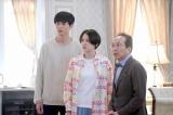 『コンフィデンスマンJP』第10話(左から)東出昌大、長澤まさみ、小日向文世(C)フジテレビ