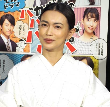 NHK土曜ドラマ『バカボンのパパよりバカなパパ』の試写会に出席した長谷川京子 (C)ORICON NewS inc.
