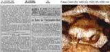 左:『ル・ジュルナル』紙(1902 年1 月18 日号、3 頁)Source gallica.bnf.fr / BnF 右:赤外線ハイパースペクトル擬似色彩による新聞紙の画像 (C) John Delaney, National Gallery of Art, Washington