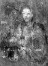 『海辺の母子像』透過X線画像と赤外線ハイパースペクトル主成分分析画像の合成画像 (C) Institute for Cultural Properties, Tokyo /John Delaney, National Gallery of Art,Washington