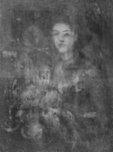『海辺の母子像』X 線透過画像 撮影:東京文化財研究所