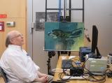 2018 年 ポーラ美術館での『海辺の母子像』調査風景