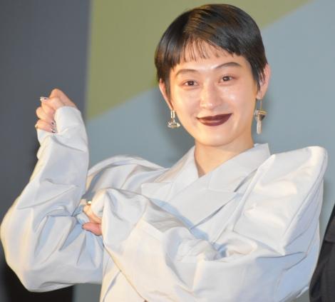 映画『猫は抱くもの』完成披露試写会前の舞台あいさつに登壇したコムアイ (C)ORICON NewS inc.