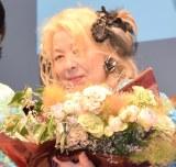ドキュメンタリー映画『フジコ・ヘミングの時間』の公開記念舞台あいさつに出席したフジコ・ヘミング (C)ORICON NewS inc.