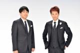 『音楽の日』で総合司会を務める(左から)安住紳一郎アナウンサー、中居正広(C)TBS