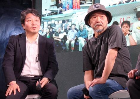 『ILC(国際リニアコライダー)Supporters』活動報告会に出席した(左から)山下了氏、押井守氏 (C)ORICON NewS inc.