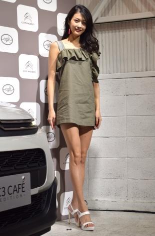 シトロエン限定車発表記念1日限定カフェ『LE CAFE CITROEN C3』発表レセプションパーティーに参加した田中道子 (C)ORICON NewS inc.