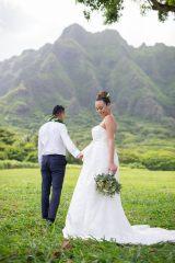 ハワイで挙式した道端アンジェリカ